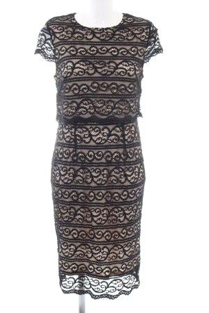 New Look Spitzenkleid wollweiß-schwarz Elegant
