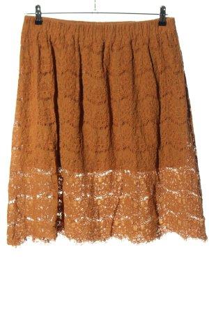 New Look Koronkowa spódnica brązowy W stylu casual