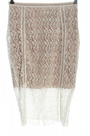 New Look Lace Skirt white-nude casual look