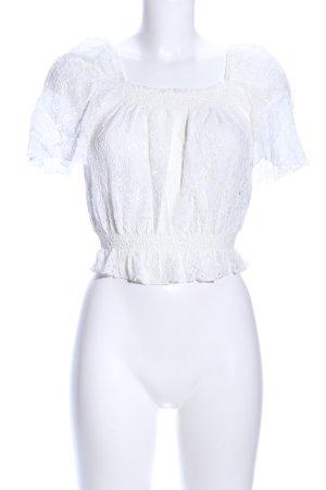 New Look Spitzentop weiß Elegant