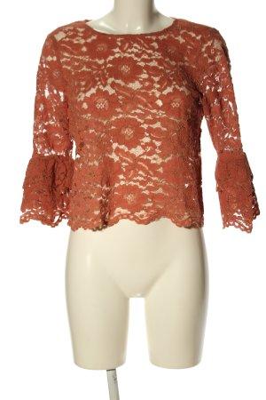 New Look Kanten topje rood Webpatroon casual uitstraling