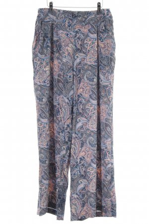 New Look Stoffhose blau-nude abstraktes Muster Casual-Look