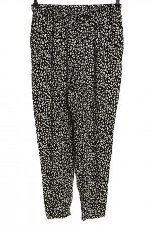 New Look Stoffhose schwarz-weiß grafisches Muster Casual-Look
