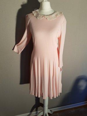 New Look Strech Kleid M Vintage 50-er Jahre Kragen gehäckelt