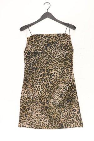New Look Stretchkleid Größe 38 mit Tierdruck Ärmellos braun aus Polyester
