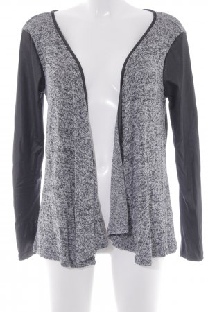 New Look Strick Cardigan schwarz-hellgrau meliert Casual-Look