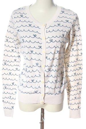 New Look Cardigan in maglia bianco-blu stampa integrale stile casual