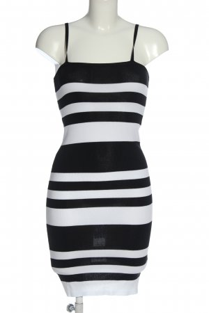 New Look Vestido tejido blanco-negro estampado a rayas look casual