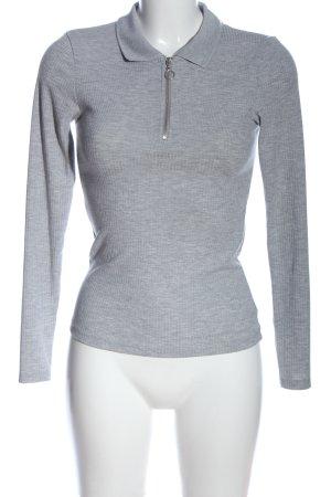 New Look Sweter z dzianiny jasnoszary Wzór w paski W stylu casual