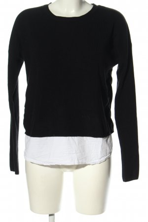 New Look Knitted Sweater black-white casual look
