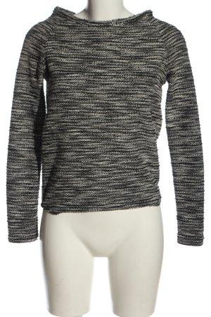 New Look Strickpullover schwarz-weiß meliert Casual-Look