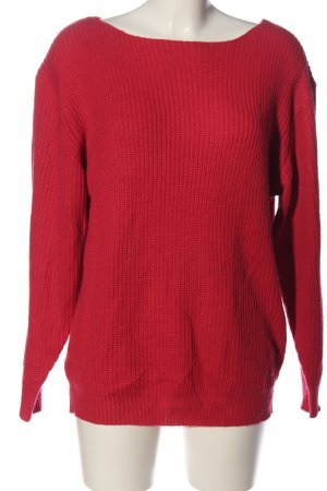 New Look Strickpullover rot Casual-Look
