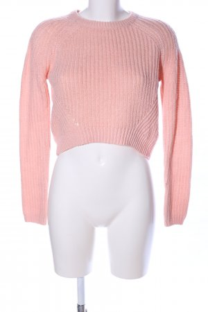New Look Strickpullover pink Zopfmuster Casual-Look