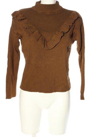 New Look Strickpullover braun Casual-Look