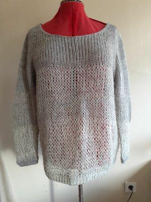 New Look Sweter z dzianiny jasnoszary Tkanina z mieszanych włókien