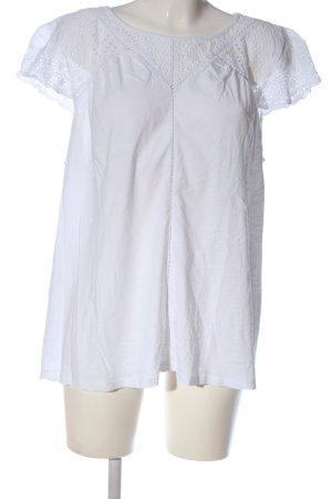 New Look Kurzarm-Bluse weiß Casual-Look