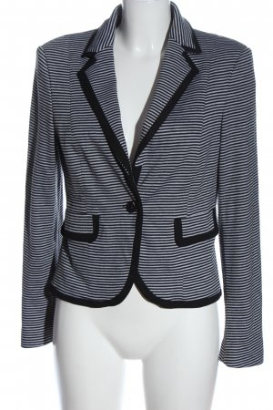 New Look Blazer sweat noir-blanc motif rayé style décontracté