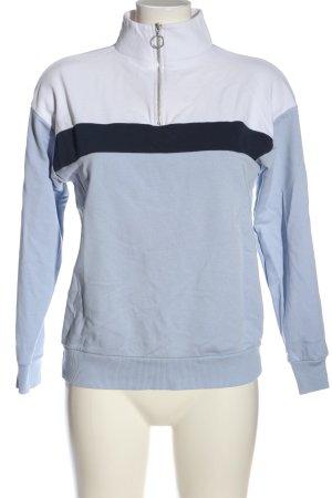 New Look Sweatshirt blau-weiß Casual-Look
