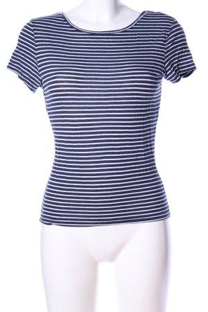 New Look T-Shirt blau-weiß Streifenmuster Casual-Look