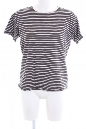 New Look T-Shirt weiß-braun Streifenmuster Casual-Look