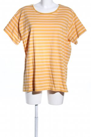 New Look T-Shirt hellorange-weiß Streifenmuster Casual-Look