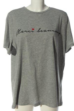 New Look T-shirt gris clair moucheté style décontracté