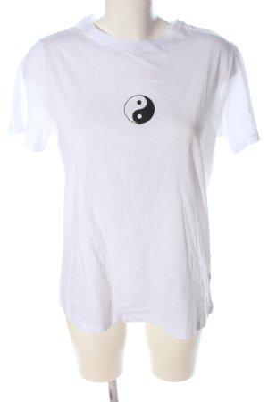 New Look Camiseta blanco estampado temático look casual