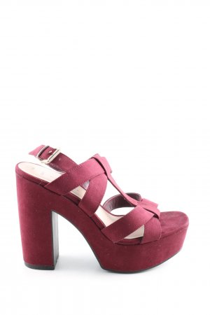 New Look T-Strap Sandals red casual look
