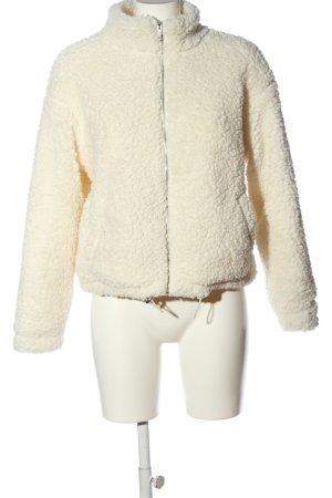 New Look Chaqueta Teddy blanco puro estilo sencillo