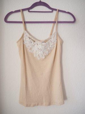 New Look Top Lace Trim Cami camisole mit Spitze und perlen
