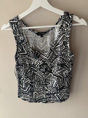 New Look Top schwarz weiß