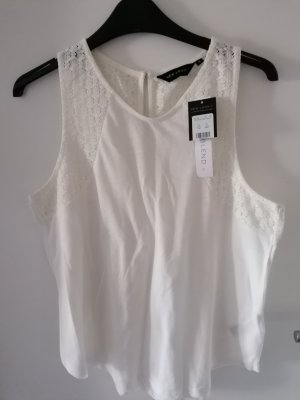 New Look Top linea A bianco