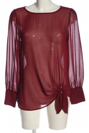 New Look Transparenz-Bluse rot Casual-Look