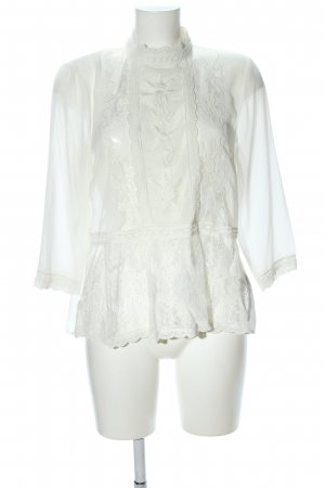 New Look Transparenz-Bluse weiß Elegant