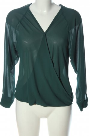 New Look Blusa trasparente verde elegante