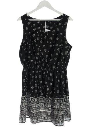 New Look Abito a tunica nero-bianco stampa integrale stile casual