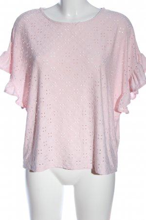 New Look Spitzenbluse pink Casual-Look
