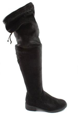 New Look Botas de pantorrilla ancha negro look casual