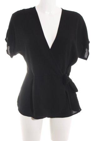 New Look Blouse portefeuille noir élégant