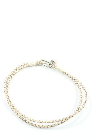 New One Bransoletka biały-brązowy Elegancki