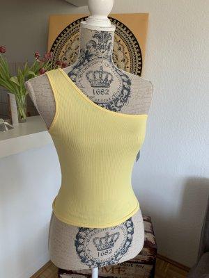 NEW! One-Shoulder Crop Top - Yellow/Gelb - OneSize