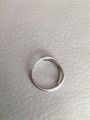 New One Silberring Ring Schleife wie NEU
