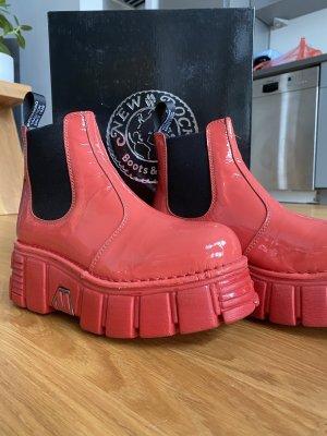 New rock Chelsea Boot rouge