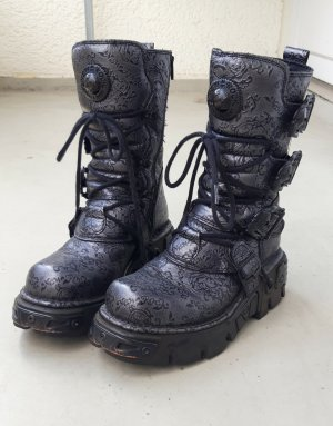 New rock Gothic laarzen zwart Leer
