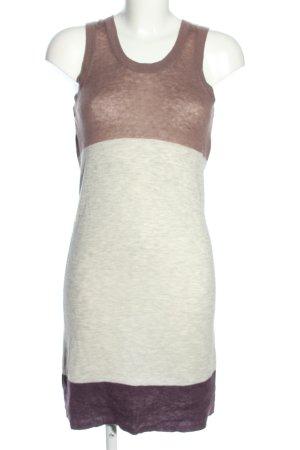 New Scotland Robe en laine bronze-blanc cassé moucheté style décontracté