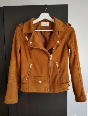 Sparkz Vestito in pelle marrone-cognac