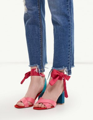 New - Stradivarius Block-Heeled Sandals