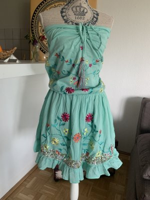Anisa Bandeau Dress multicolored cotton