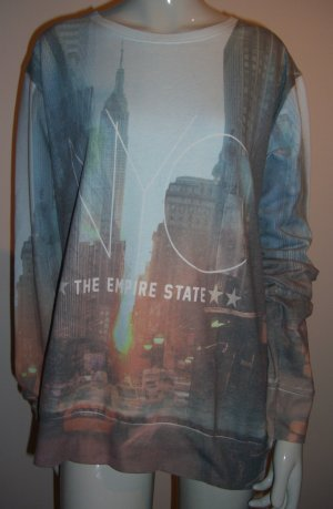 New York All-Over Print Pullover
