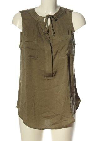 New York & Company ärmellose Bluse khaki Casual-Look